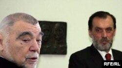 Stjepan Mesić i Vuk Drašković, arhiv, kombinovana fotografija