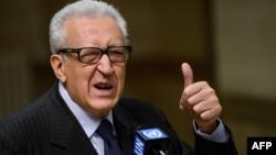 Пратеникот на ОН и на Арапската лига за Сирија Лахдар Брахими.