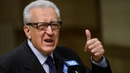 UN-Arab League peace envoy for Syria Lakhdar Brahimi