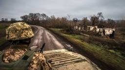 14 декабря 2017 года, украинские позиции возле Попасной Луганской области
