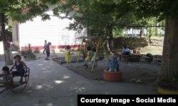 Детский сад в Баткенской области, которому оказали поддержку мигранты в Москве.