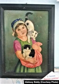"""Девочка с котятами"", картина Владимира Чиканика"