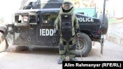 آرشیف، یک نیروی پولیس ماین روبی در افغانستان
