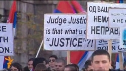 Serbian Students Protest War Crimes Court Decisions