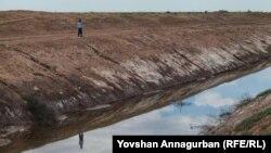 """""""Altyn asyr' kölüne barýan zeý suwly kanal."""
