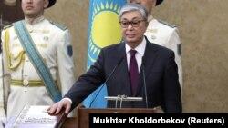 Ղազախստան - Քասիմ-Ժոմարտ Տոկաևը խորհրդարանի երկու պալատների համատեղ նիստում հանդիսավոր երդմամբ ստանձնում է երկրի նախագահի պաշտոնակատարի լիազորությունները, Աստանա, 20-ը մարտի, 2019թ․