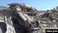 АҚШ-тың әуе шабуылынан қираған ғимарат. Мосул, Ирак, 17 наурыз 2017 жыл.