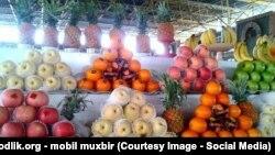 Один из продуктовых рынков в Узбекистане.
