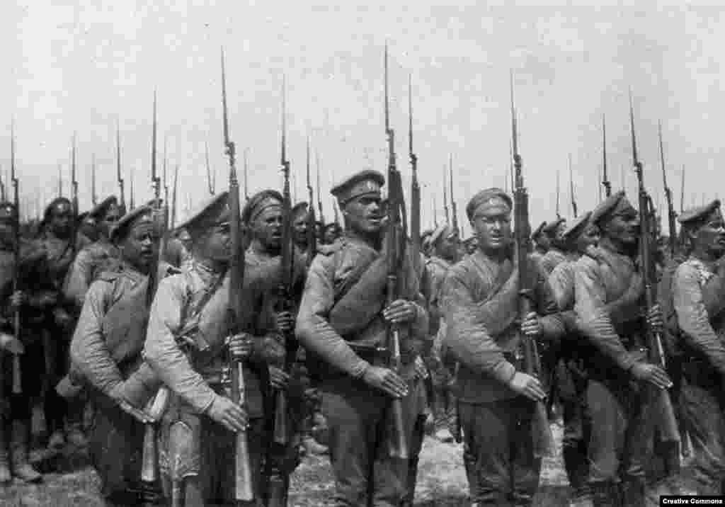 Russian infantry.