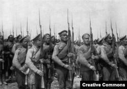 Русская пехота времен Первой мировой войны