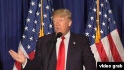Дональд Трамп выступает с внешнеполитической речью 26 апреля 2016 года