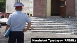 Полицейский в Алматы. Иллюстративное фото.