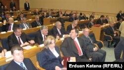 Skupština tokom sjednice na kojoj je izabrana Vlada, 12. mart 2013.