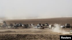 Мосулга жакындаган Ирак күчтөрү.