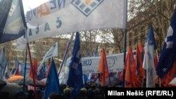 Jedan od sindikalnih protesta u Beogradu, ilustrativna fotografija
