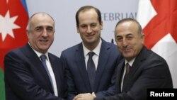 Elmar Məmmədyarov, Mikheil Janelidze və Mevlüt Çavuşoğlu