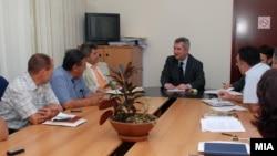 Работен состанок на министерот Љупчо Димовски со претставници на Сојузот на земјоделци и Федерацијата на фармерите