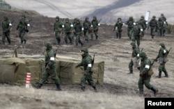 Військові навчання бойовиків угруповання «ЛНР» в Луганській області. Лютий 2016