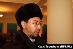 Жандос Булхайыр, адвокат Саяна Хайрова. Алматы, 27 января 2014 года.