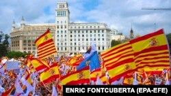 Barselonada etiraz aksiyası, 12 oktyabr, 2017-ci il