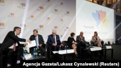 Business and government officials meet at a Western Balkan summit in the Polish city of Poznan.