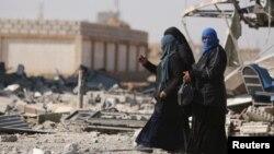 Разбомбленный сирийский город Аш-Шадади (провинция Хасака).
