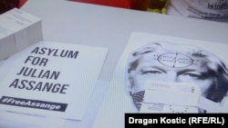 Belqradda Julian Assange-a dəstək aksiyası