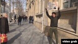 Rafael Huseynov Bakıda tək aksiya keçirir, 25 yanvar 2019
