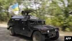 Украинский патруль рядом с Донецком
