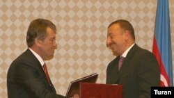 Viktor Yuşşenko Ukrayna-Azərbaycan əlaqələrini «strateji əməkdaşlıq» kimi xarakterizə edir