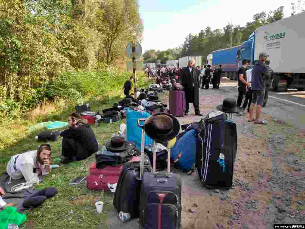 Belarusian border guards had let the pilgrims pass but they were turned back by Ukrainian authorities who banned the entry of foreigners in August.