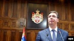 Aleksandar Vučić u Skupštini Srbije, Beograd, 9. avgust 2016.