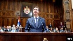 Aleksandar Vučić prilikom predstavljanja ekspozea, 9. avgust, 2016.