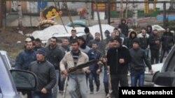 Столкновения между узбекскими и таджикскими мигрантами в Туле, Россия. (Архивное фото).
