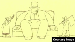 """Bürokratiya"". Şerif. Karikatura"