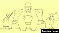 Hakimiyyət. Rəşid Şerif. Karikatura
