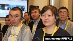 Қазақ сайттары редакторларының конференциясына қатысушылар. Астана, 22 қаңтар 2013 жыл.