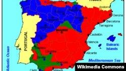 Harta e Luftës Civile në Spanjë, 1936, në të cilën ka luftuar ish ldieri komunist, Santiago Karrilo