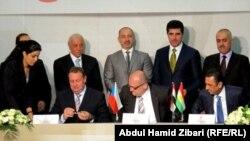 مراسم توقيع العقد بين شركة كار وبنك تشيكي