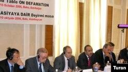 Diffamasiyaya dair dəyirmi masa, Bakı, 10 oktyabr 2006