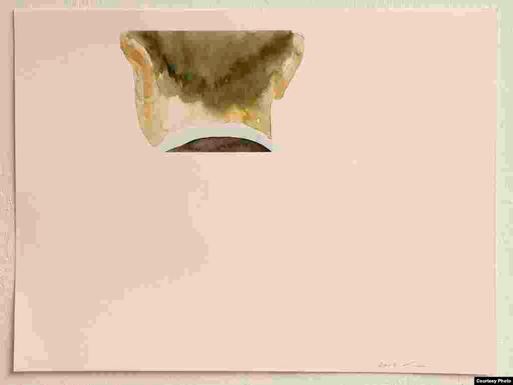 კასპარის ამბავი N 14. 2002 წელი. აკვარელი. ქაღალდი. მხატვრის ნებართვით