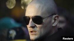 Сергеј Удалцов, лидер на нерегистрираната Партија на левиот фронт.
