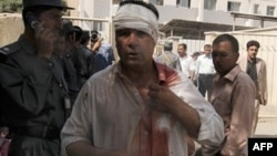 An Afghan man injured in the Indian Embassy bombing in Kabul