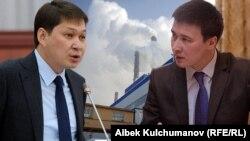 На фотоколлаже слева направо — Сапар Исаков в бытность премьер-министром и Айбек Калиев в бытность главой Нацэнергохолдинга Кыргызстана.