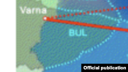 Bulgaria/Romania -- the new Southstream route, undated
