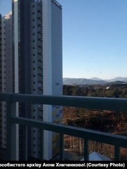 Вид з вікна кімнат української збірної