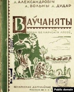 Вокладка рамана «Ваўчаняты», 2-е выданьне. 1928 год