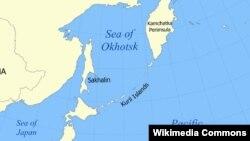 Kuril adalarının xəritəsi