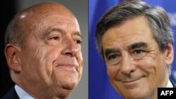 Fransiya prezidentligiga nomzodlar Alen Jyuppe (chapda) va Fransua Fiyon.