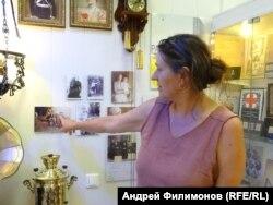 Анна Прокудина-Горская в музее памяти ее прадеда